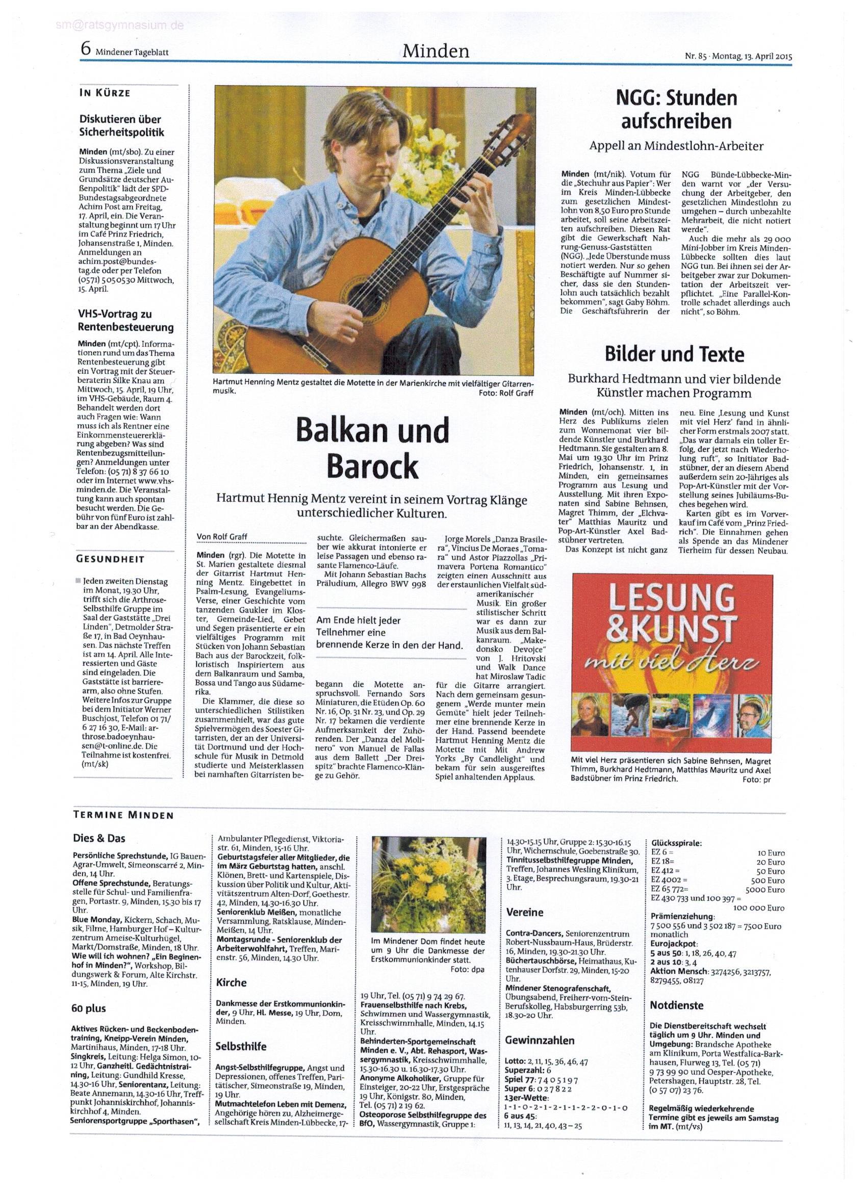 Mindener Tageblatt, http://www.mt.de/